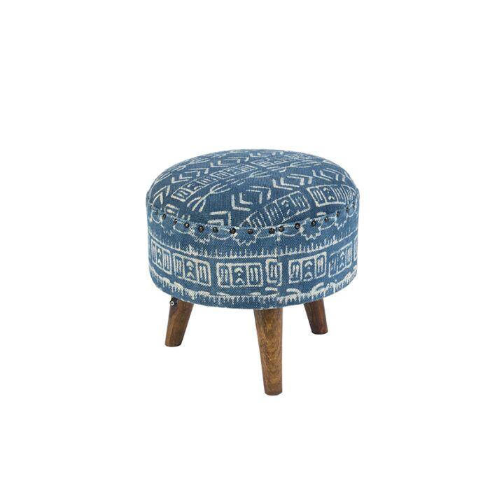 Taburete-redondo-oriental-Ø40cm-azul---VANARASI