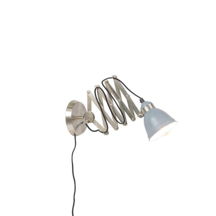 Aplique-industrial-acero/gris-acordeón---AVERA