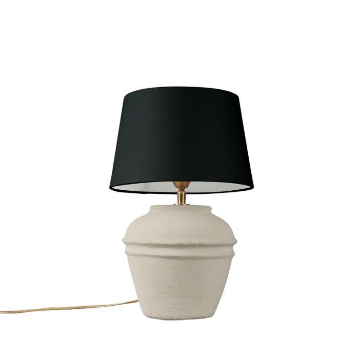 Lámpara-de-mesa-ARTA-XS-gris-con-pantalla-25cm-negra