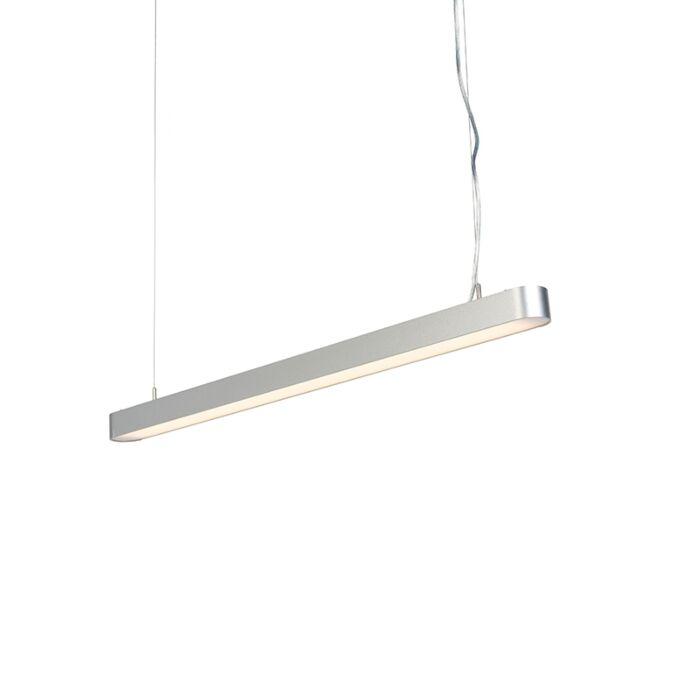 Lámpara-colgante-moderna-redonda-100cm-plateada-LED---DUCT-R
