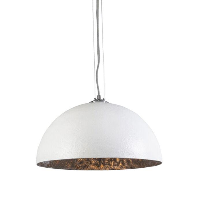 Lámpara-colgante-MAGNA-50-blanca---plata