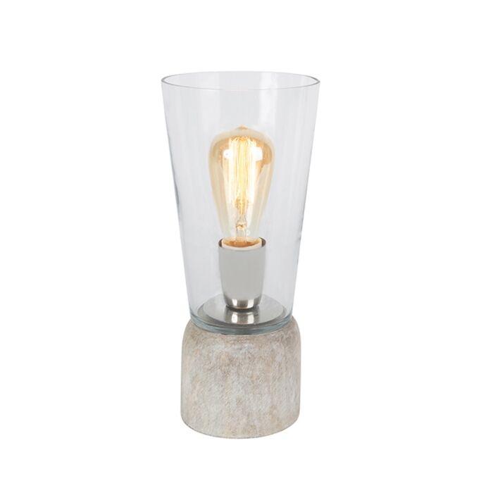 Lámpara-de-mesa-ATIF-cristal-transparente