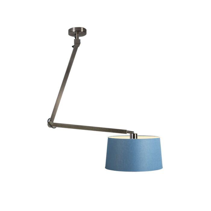 Lámpara-colgante-ACCIO-acero-con-pantalla-45cm-azul