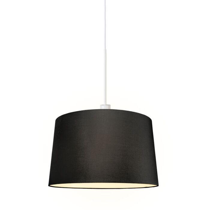 Lámpara-colgante-moderna-blanca-pantalla-negra-45cm-negro---COMBI-1