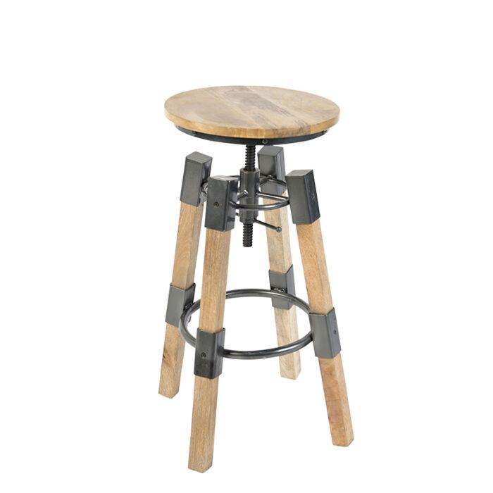 Taburete-industrial-ajustable-madera-en-negro---MANGA