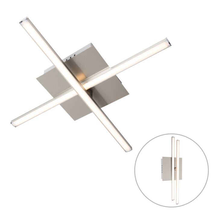 Plafón-moderno-acero-LED-giratorio---CRUZ