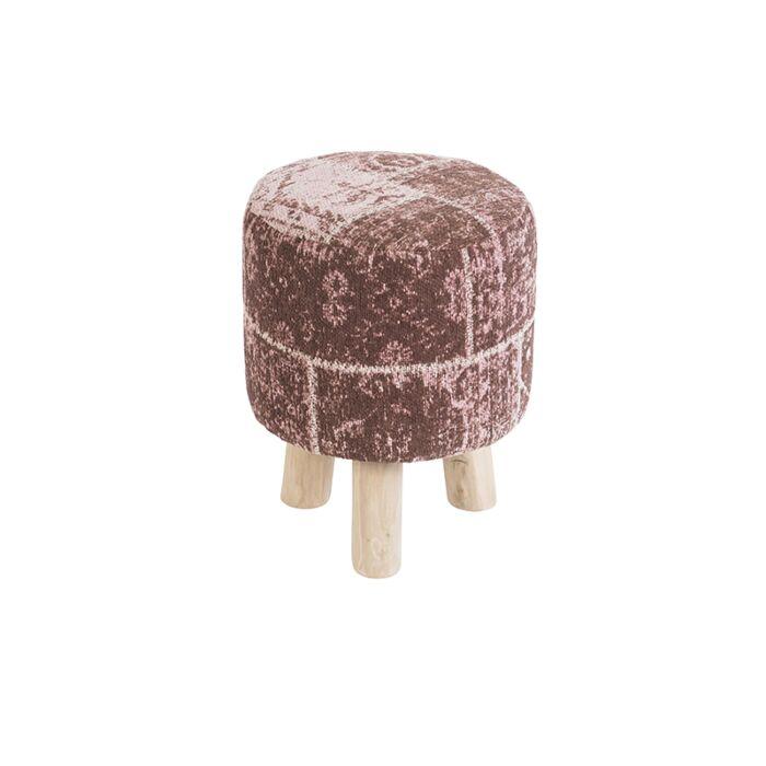 Taburete-redondo-vintage-rosa-envejecido-30-x-30-x-40cm---AGRA