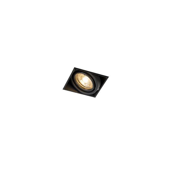 Foco-empotrado-negro-sin-molduras-orientable---ONEON-1-GU10-Trimless