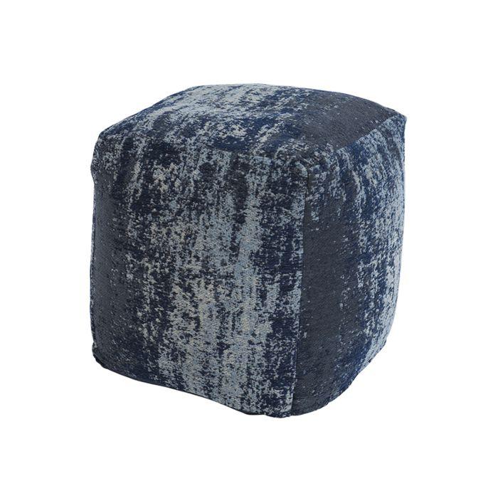 Puf-vintage-cuadrado-azul-45-x-45-x-45cm---KOCHI