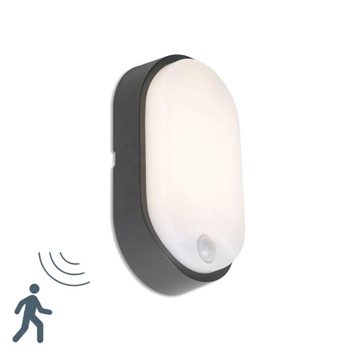 Aplique-HORTUS-LED-con-sensor-PIR-IP54-ovalado-negro