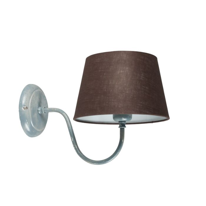 Aplique-COMBI-Classic-hormigón-con-pantalla-20cm-gris-marronáceo