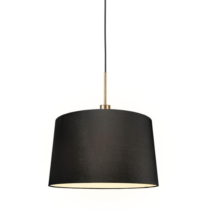 Lámpara-colgante-moderna-bronce-pantalla-negro-45cm---COMBI-1