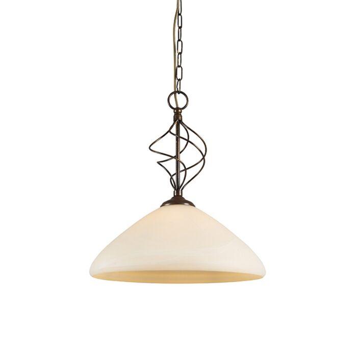 Lámpara-colgante-UDINESE-40-con-cristal-de-murano