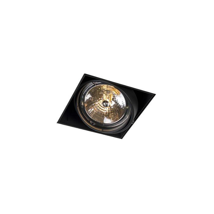 Foco-empotrable-negro-AR111-orientable-trimless---ONEON-