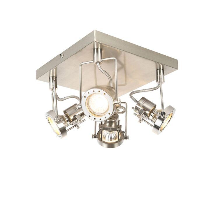 Plafón-industrial-acero-4-luces-giratorio---SUPLUX