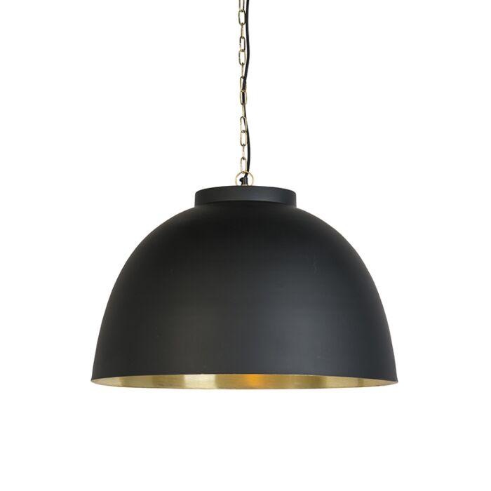 Lámpara-colgante-industrial-negra/oro-60cm---HOODI