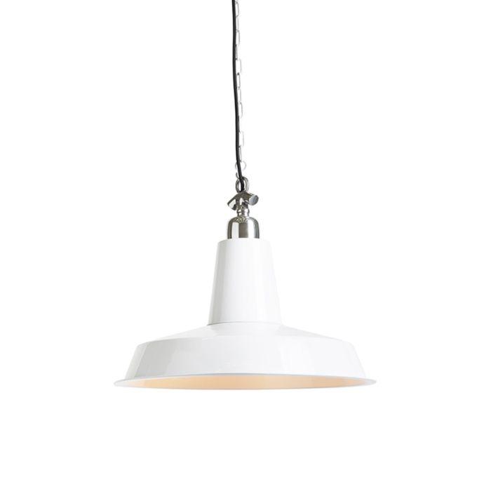 Lámpara-colgante-industrial-blanca---WARRIOR