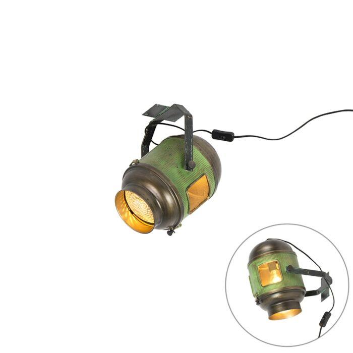 Foco-industrial-bronce/verde---BYRON