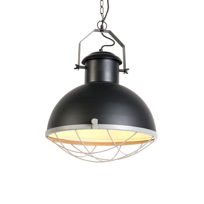 Lámpara-colgante-industrial-negra-/gris---ENGINE