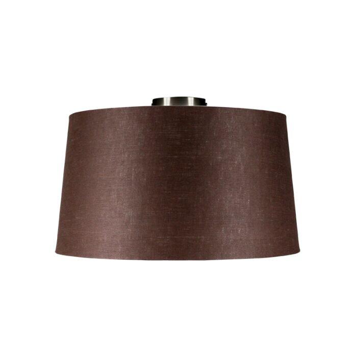 Plafón-COMBI-acero-con-pantalla-45cm-gris-marronáceo