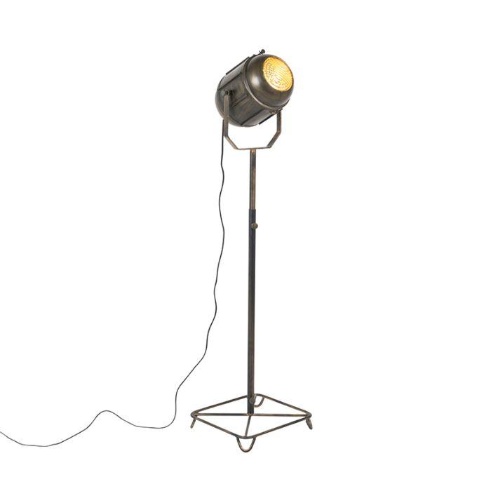 Lámpara-de-pie-industrial-bronce-140cm---BROCA