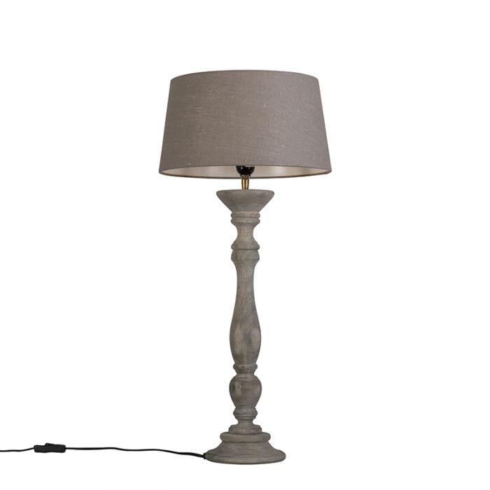 Lámpara-de-mesa-gris-con-pantalla-35-cm-gris