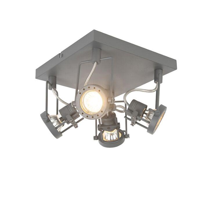 Plafón-industrial-antracita-orientable-4-luces---SUPLUX