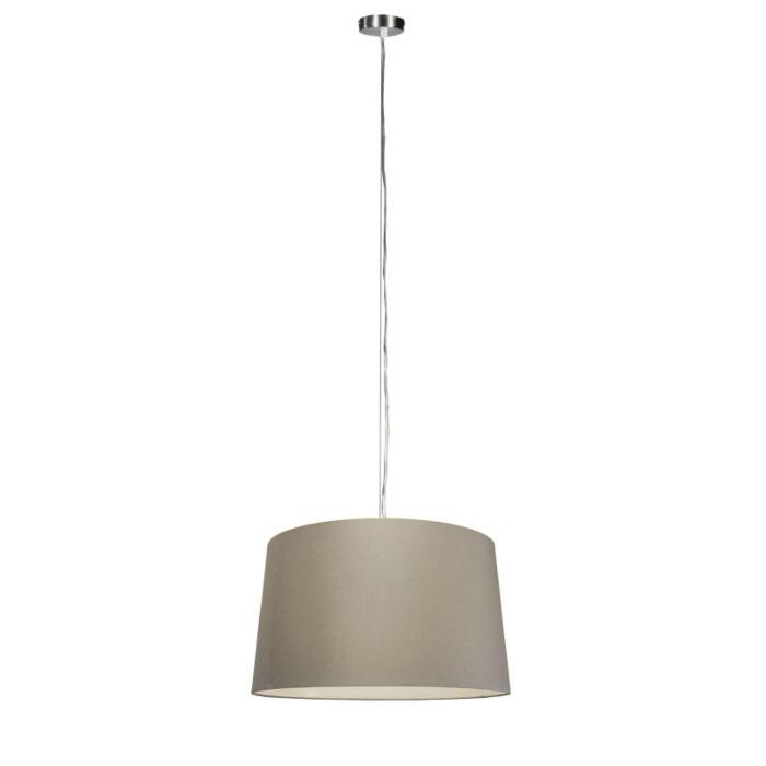 Lámpara-colgante-moderna-acero-pantalla-visón-45cm---CAPPO-1