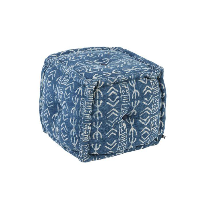 Puf-cuadrado-oriental-40x40cm-azul---VANARASI