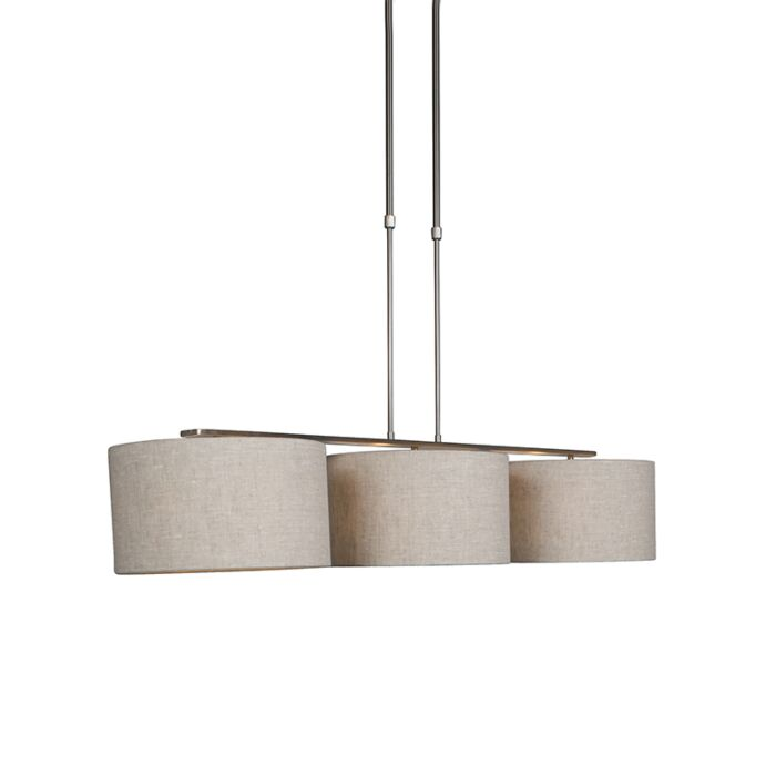Lámpara-colgante-moderna-acero-pantalla-pimienta-35cm---COMBI-3-Deluxe