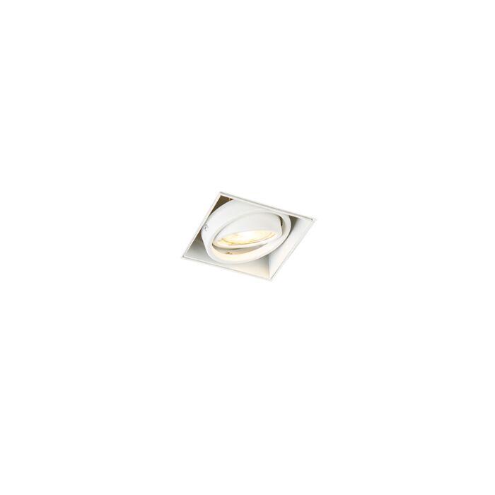 Foco-empotrado-blanco-orientable-sin-molduras-1-luz---ONEON-1Trimless