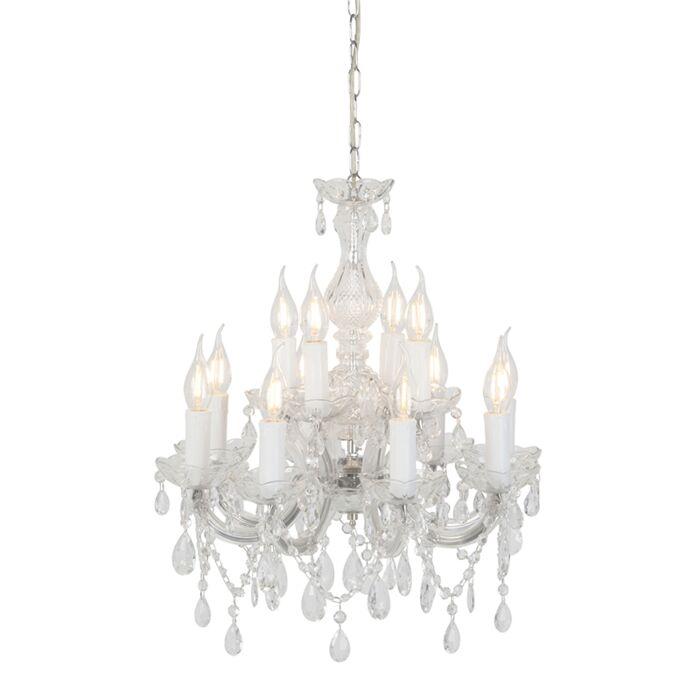 Lámpara-de-araña-transparente-48cm-12-luces---MARIE-Theresa