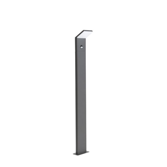 Baliza-moderna-gris-oscuro-100cm-con-detector-de-movimiento-IP44-LED---MAPI