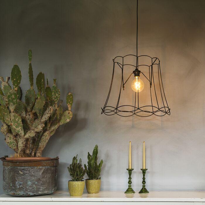 Lámpara-colgante-retro-negra-45cm---GRANNY-Frame