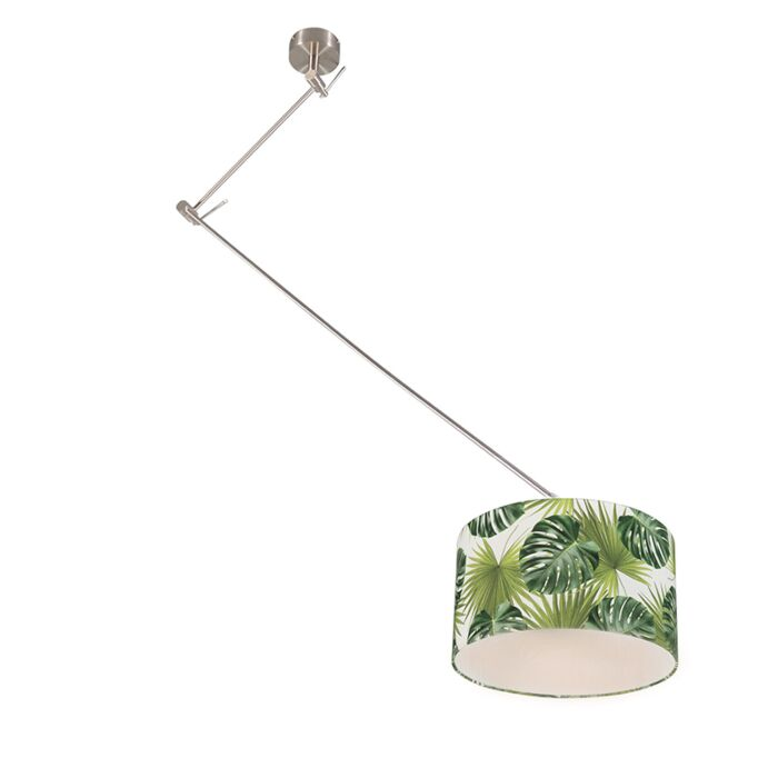 Lámpara-colgante-moderna-acero-pantalla-hojas-35cm---BLITZ-1