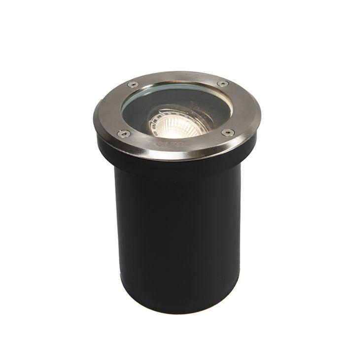 Set-de-5-focos-empotrado-suelo-moderno-acero-RVS-IP65---DELUX