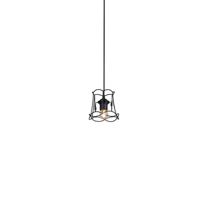 Lámpara-colgante-retro-negra-15-cm---GRANNY-Frame