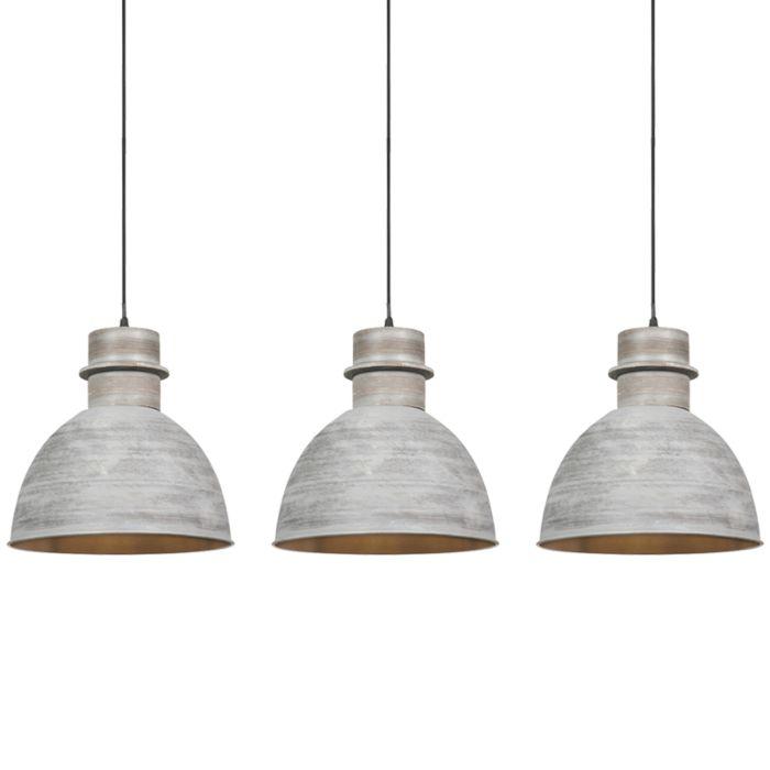 Set-3-lámparas-colgantes-rústica-gris---DORY