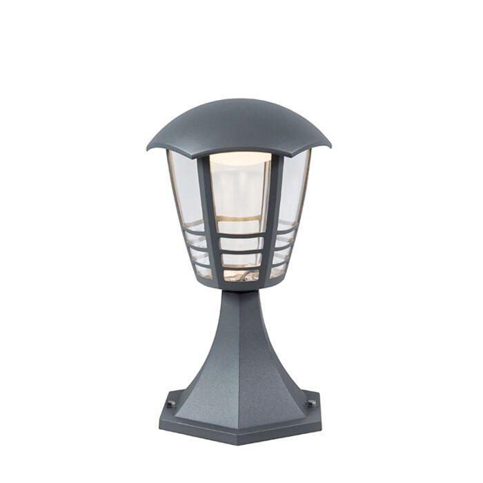 Baliza-moderna-gris-oscuro-23cm-LED---MARA
