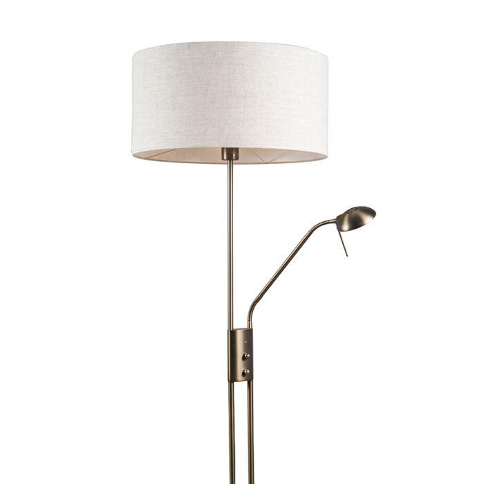 Lámpara-de-pie-LUXOR-bronce-50cm-pimienta