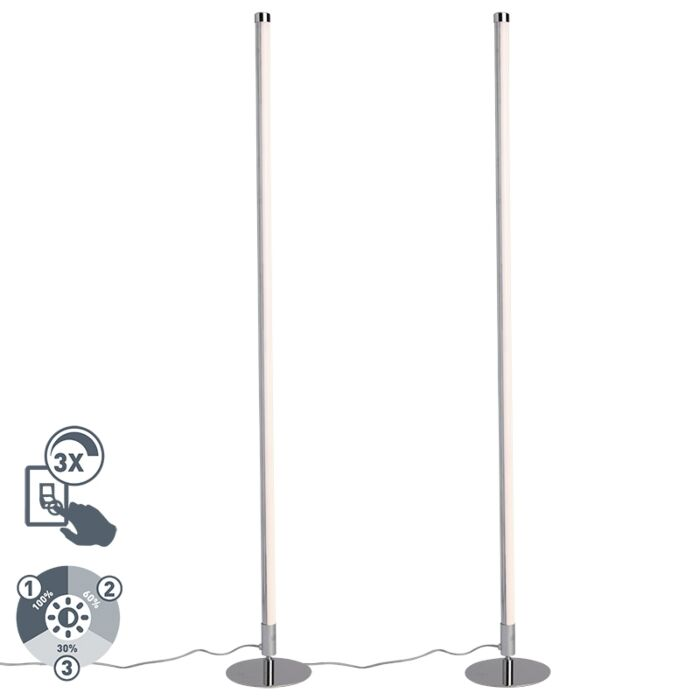 Set-de-2-lámparas-de-pie-modernas-LED-cromo---LINE-UP