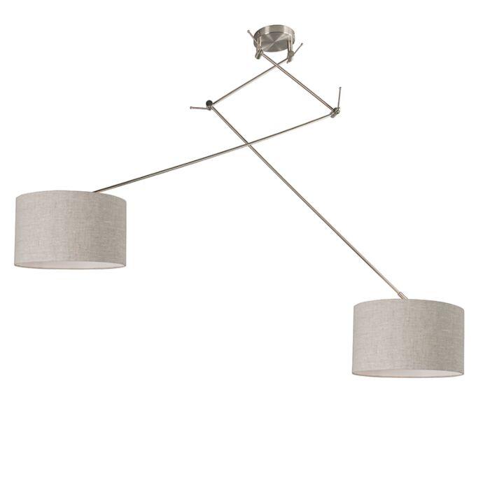 Lámpara-colgante-descentrada-acero-35-cm-pimienta-ajustable---BLITZ-II