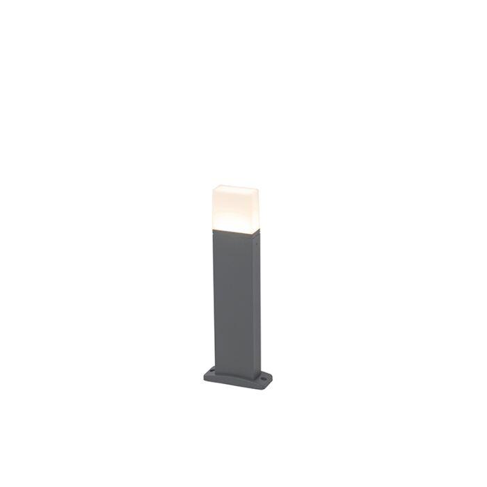 Baliza-moderna-gris-oscuro-45cm-LED-IP54---MALIA