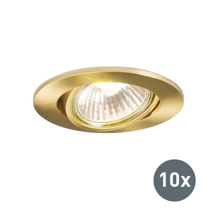 Set-de-10-focos-empotrados-dorado-orientable---CISCO