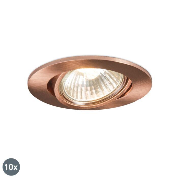 Se-10-focos-empotrados-cobre-orientable---CISCO