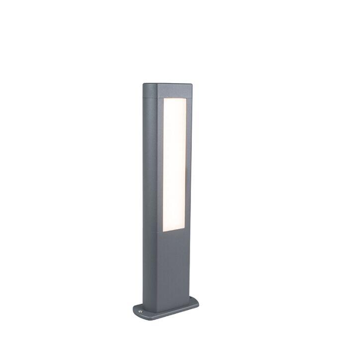 Baliza-moderna-gris-oscuro-50cm-LED---POLO