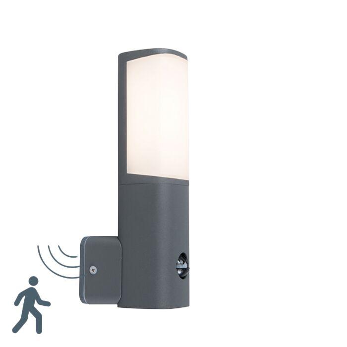 Aplique-moderno-gris-oscuro-con-sensor-de-movimiento-IP44-LED---RICO
