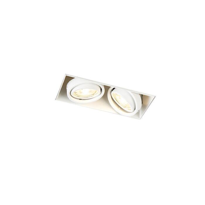 Foco-empotrado-blanco-orientable-sin-molduras-2-luces---ONEON-2-Trimless