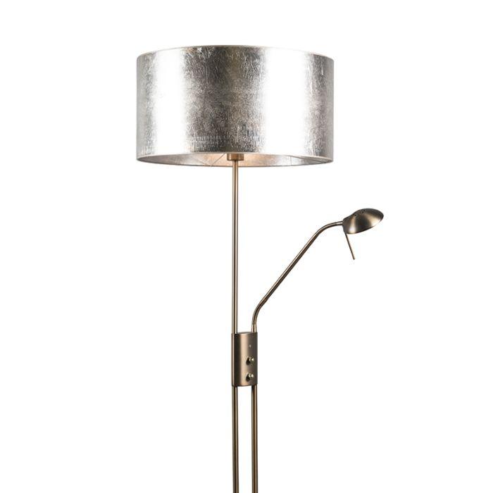 Lámpara-de-pie-LUXOR-bronce-50cm-platacon-un-toque-marrón
