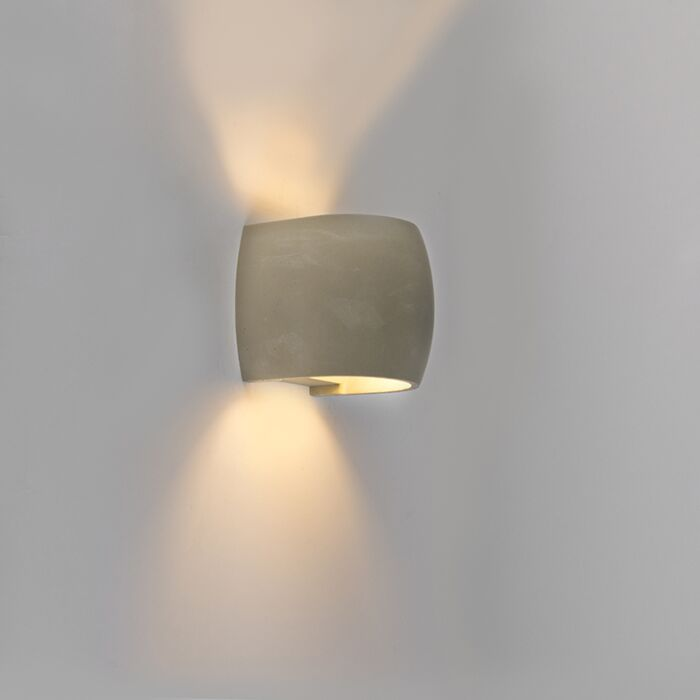 Aplique-rústico-convexo-hormigón-IP54-LED---ALBUFEIRA